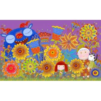 Tableaux pour enfants - Tableau -Nan's Garden, 2017 (mixed media)- - Christie, Maylee