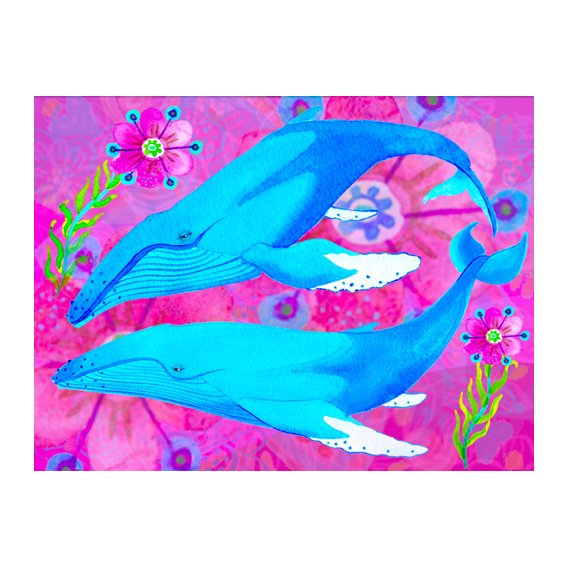 Tableau -Whales in Love, 2017 (mixed media)-