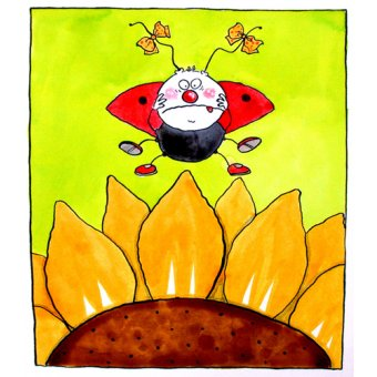 Tableaux pour enfants - Tableau -Ladybird (w.c & ink on paper)- - Christie, Maylee