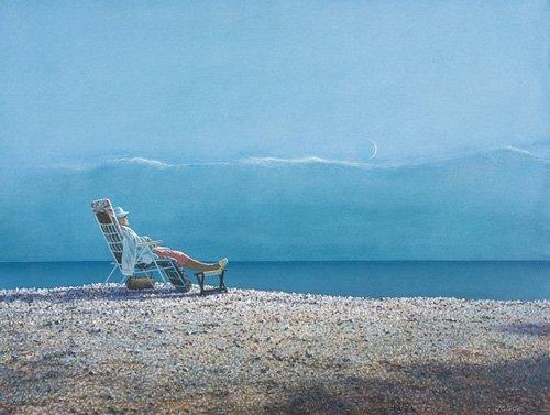tableaux-modernes - Tableau -Repose (oil on canvas)- - Cook, Simon