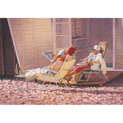 Tableau -Evening Rest (oil on canvas)-