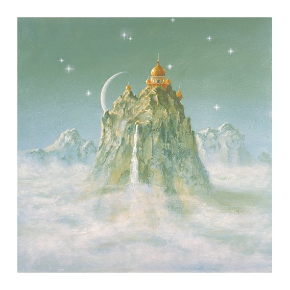 Tableau -Temple in the Mountain (acrylic on canvas)-