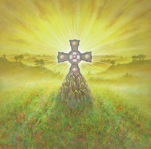 tableaux-modernes - Tableau -Celtic Cross (acrylic on canvas)- - Cook, Simon