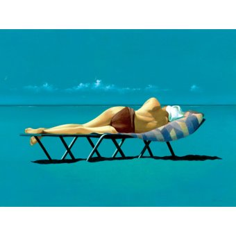 Tableaux de paysages marins - Tableau -Sunbather (oil on canvas)- - Cook, Simon