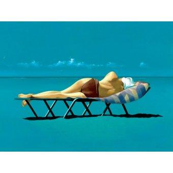 Tableaux modernes - Tableau -Sunbather (oil on canvas)- - Cook, Simon