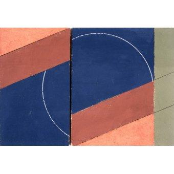 Tableaux abstraits - Tableau -Painting - Interrupted Circle, 2000 (oil on board)- - Dannatt, George