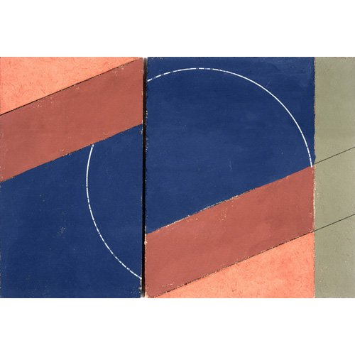 Tableau -Painting - Interrupted Circle, 2000 (oil on board)-