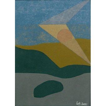 Tableaux abstraits - Tableau -Untitled, 2000 (oil on card)- - Dannatt, George