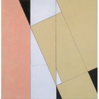 Tableaux abstraits - Tableau -Spatial Relationship, No 2, 2003 (oil on paper and board)- - Dannatt, George