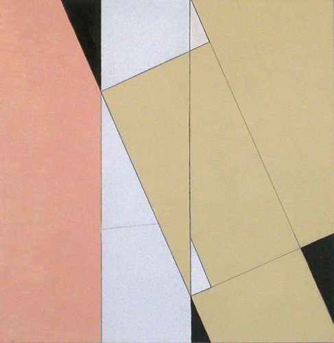 tableaux-abstraits - Tableau -Spatial Relationship, No 2, 2003 (oil on paper and board)- - Dannatt, George