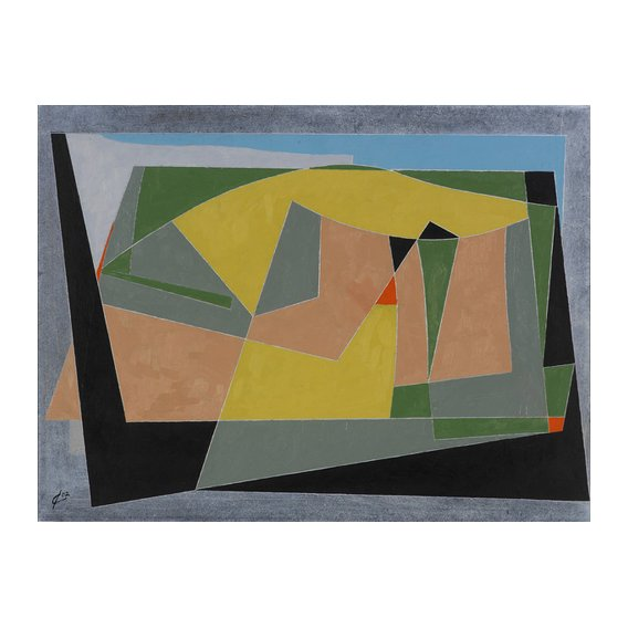 Tableau -A Landscape by the Sea, 2007 (oil on board)-