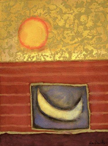 tableaux-modernes - Tableau -The Sun Rises While the Moon Sleeps- - Davidson, Peter