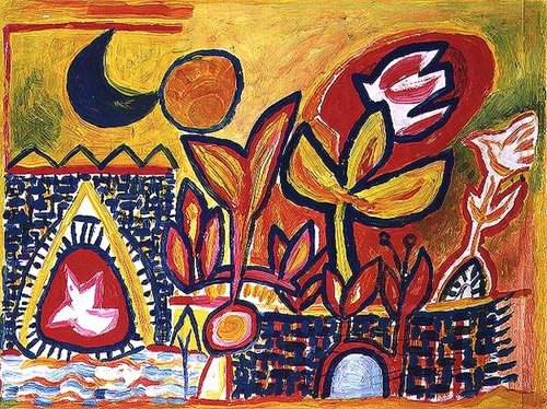tableaux-modernes - Tableau -Song to the Sun and Moon- - Davidson, Peter