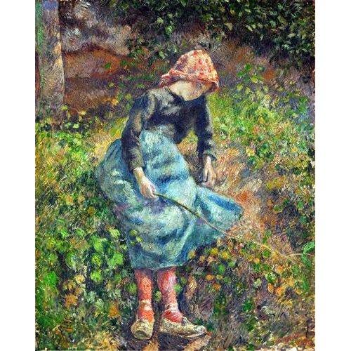 Tableau -Jeune fille avec une baguette, 1881-
