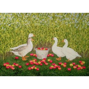 Tableaux de faune - Tableau -Sweetcorn-Geese- - Ditz