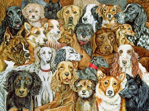 tableaux-modernes - Tableau -Dog Spread, 1989- - Ditz