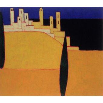 Tableaux de paysages - Tableau -San Gimignano, Tuscany, 2000- - Donne, Eithne