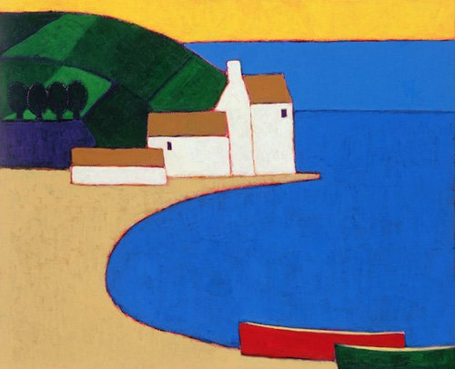 tableaux-modernes - Tableau -Bay in Southern Brittany- - Donne, Eithne