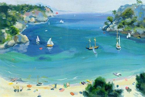 tableaux-de-paysages-marins - Tableau -Cala Galdana, Minorca, 1979- - Durham, Anne