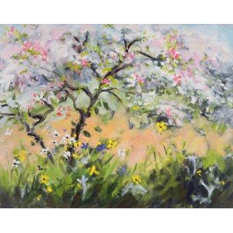 Tableaux de paysages marins - Tableau -Spring Blossom- - Durham, Anne