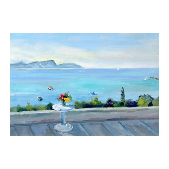 Tableau -A terrace looking out to sea-