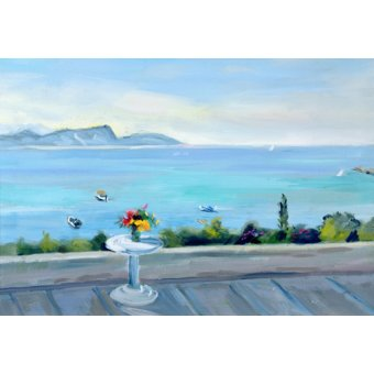 Tableaux de paysages marins - Tableau -A terrace looking out to sea- - Durham, Anne
