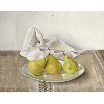 Tableaux nature morte - Tableau -Three Pears on a Plate, Still Life, 1990- - Easton, Arthur