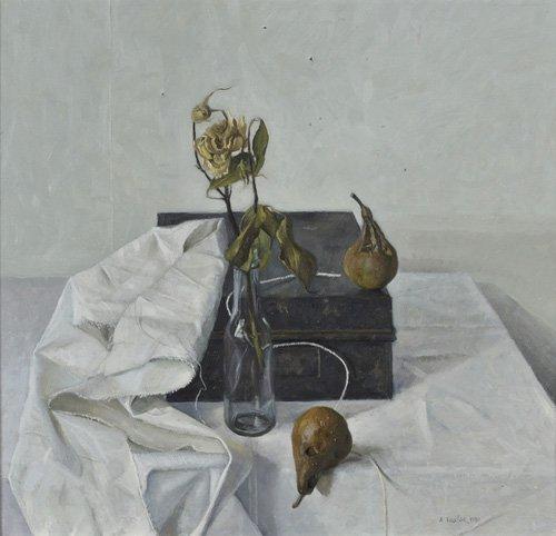 tableaux-nature-morte - Tableau -The Box and Rotten Pears, 1990- - Easton, Arthur