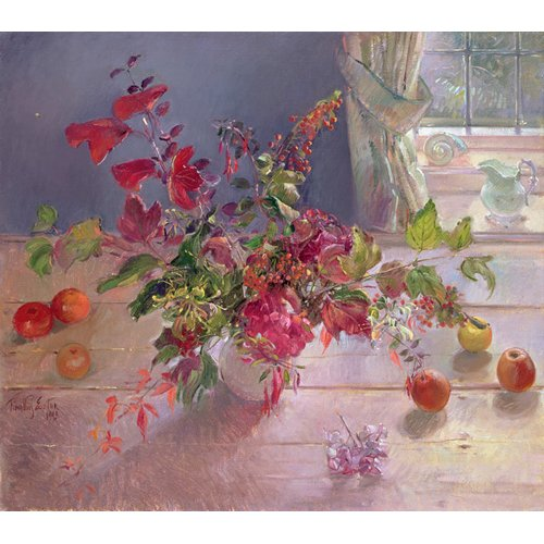 Tableau -Honeysuckle and Berries, 1993-