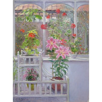 Tableaux nature morte - Tableau -Through the Conservatory Window, 1992 - - Easton, Timothy