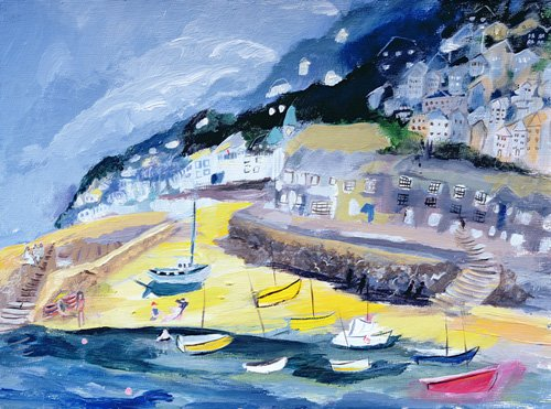 tableaux-de-paysages-marins - Tableau -Mousehole, Cornwall, 2005- - Elliot, Sophia