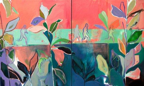 tableaux-de-paysages - Tableau -in stride- - Evans, Charlotte