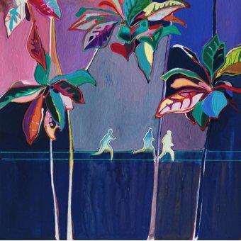Tableaux de paysages - Tableau -Rainbow Run- - Evans, Charlotte