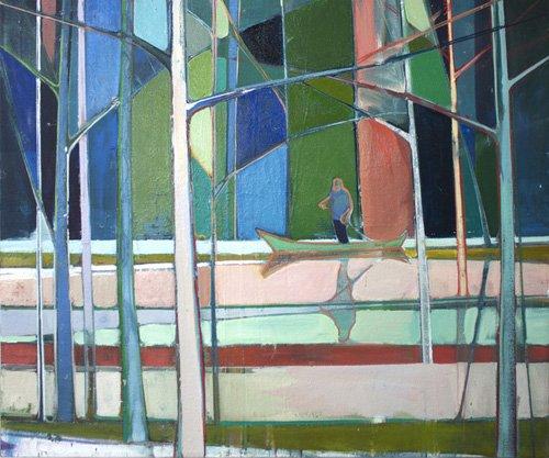 tableaux-de-paysages - Tableau -flooded forest- - Evans, Charlotte