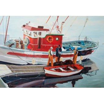 Tableaux de paysages marins - Tableau -Fishing Boat at Nerja, Spain- - Fandino, Anthony