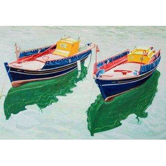 Tableaux de paysages marins - Tableau -Boats at Skopelos, Greece- - Fandino, Anthony