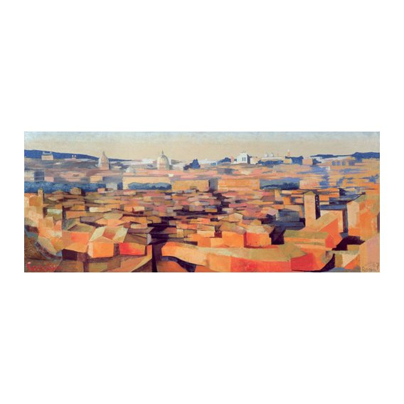 Tableau -Rome, View from the Spanish Academy on the Gianicolo, Dusk, 1968-