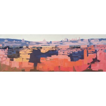 Tableaux de paysages - Tableau -Rome, View from the Spanish Academy on the Gianicolo, Sunset, 1968 - - Godlewska de Aranda, Izabella