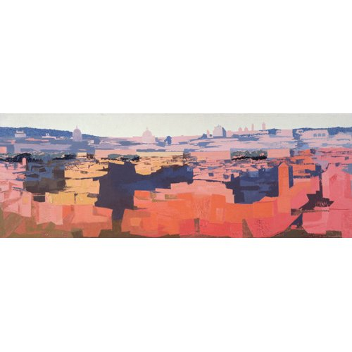 Tableau -Rome, View from the Spanish Academy on the Gianicolo, Sunset, 1968 -