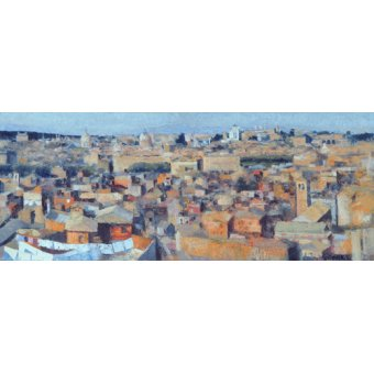 Tableaux de paysages - Tableau -Rome, View from the Spanish Academy on the Gianicolo, 1968- - Godlewska de Aranda, Izabella