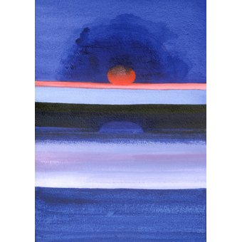 Tableaux abstraits - Tableau -Seascape, Sunset, Helsinki, 1991- - Godlewska de Aranda, Izabella