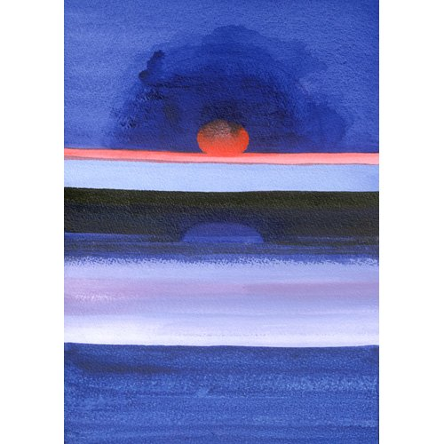Tableau -Seascape, Sunset, Helsinki, 1991-