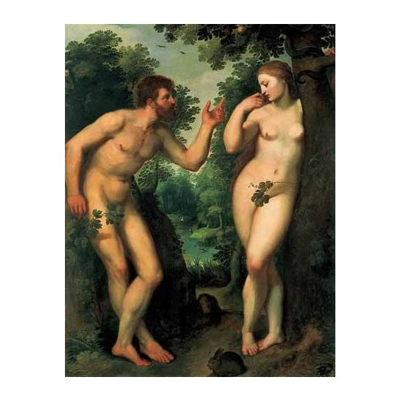 pinturas do retrato - Quadro -Adán y Eva-