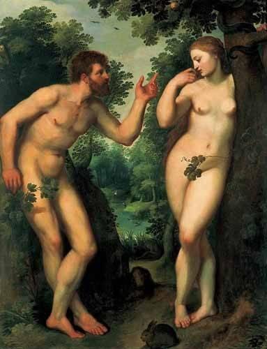 tableaux-de-personnages - Tableau -Adán y Eva- - Rubens, Peter Paulus