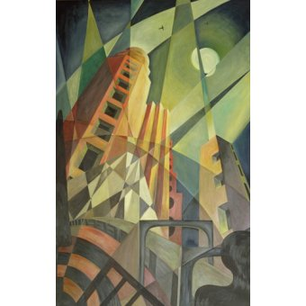 Tableaux modernes - Tableau -City in Shards of Light- - Hubbard-Ford, Carolyn