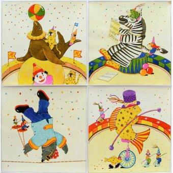 Tableaux pour enfants - Tableau -Animal Circus II- - Kaempf, Christian