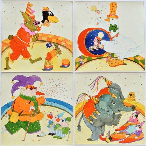 tableaux-pour-enfants - Tableau -Animal Circus - - Kaempf, Christian