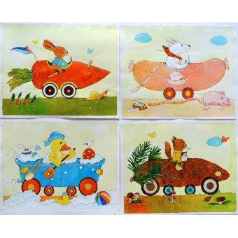 Tableaux pour enfants - Tableau -Animal Cars- - Kaempf, Christian