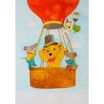 Tableaux pour enfants - Tableau -In the Balloon- - Kaempf, Christian
