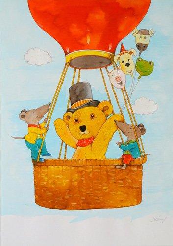 tableaux-pour-enfants - Tableau -In the Balloon- - Kaempf, Christian